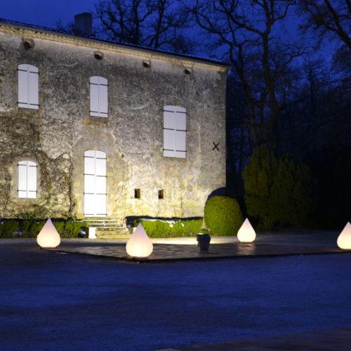 Château du Croisillat eclairage formes lumineuse Arnaud Brocqua DJ